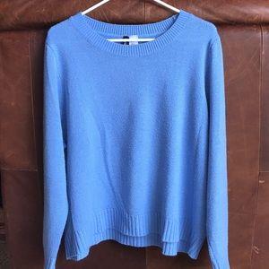 Blue, long sleeve sweater